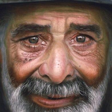 vanha mies, lähikuva