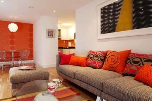 minimalist red and orange living room design ideas for the home pinterest orange living rooms living room designs and living rooms - Orange Living Room Design