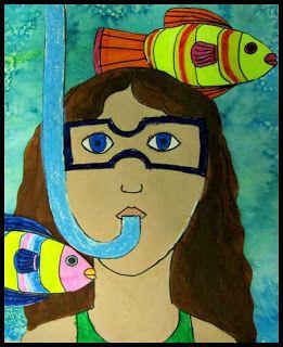Snorkeling self portrait