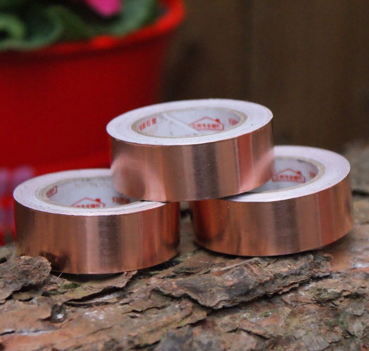 Copper tape, Slug & Snail repelent, 3 x rolls of 4 meters