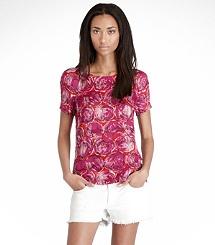 love this bright top. ALEXANDRA JACQUARD BLOUSE