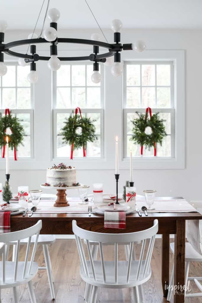 Inspired By Charm With Michael Wurm Jr Inspiredbycharm On Pinterest Christmas Dining Table Christmas Dining Christmas Table Decorations