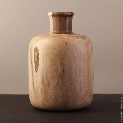 Вазы ручной работы. Ярмарка Мастеров - ручная работа. Купить Деревянная ваза. Handmade. Бежевый, интерьер, ваза, орех, сосуд