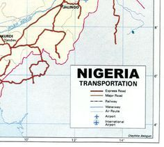 Transportation map of Nigeria
