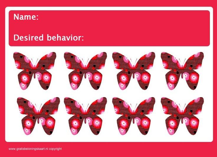 rewardchart butterfly