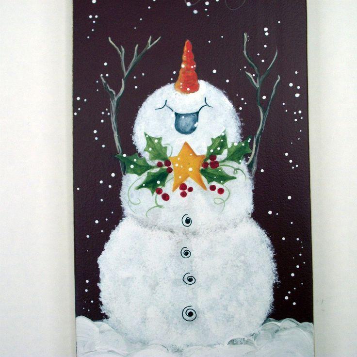 25 best ideas about snowman door on pinterest pumpkin for How to paint snowmen