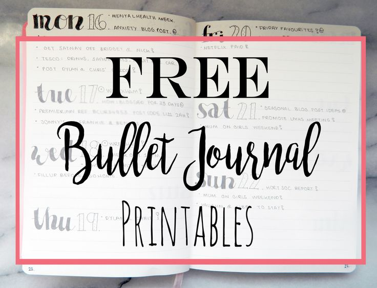 may 14    free    bullet journal printables
