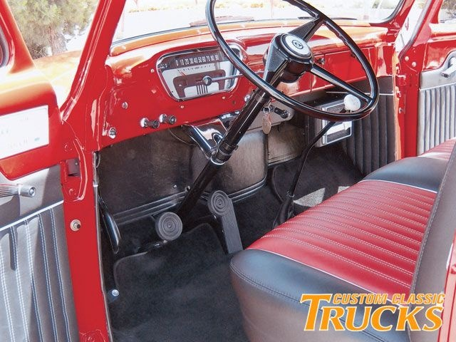 Interior F 100 1955 Ford F100 Interior View Photo 7
