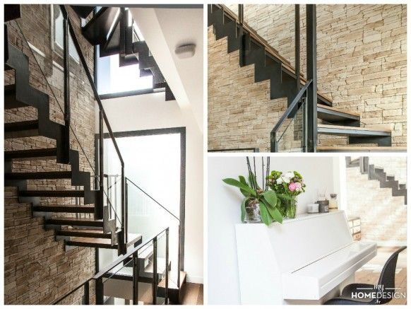 301 best un escalier en acier et bois images on pinterest 40 rocks steel stairs and stairways. Black Bedroom Furniture Sets. Home Design Ideas