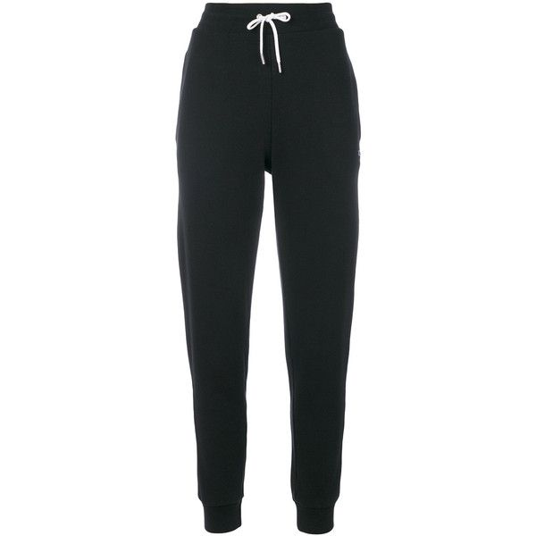 Maison Kitsuné jogger sweatpants ($200) ❤ liked on Polyvore featuring activewear, activewear pants, black, cotton sweat pants, sweat pants, slim fit sweat pants, jogger sweat pants and maison kitsuné