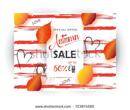 Hello Autumn text banners for October shopping, autumnal shop discount. Vector maple leaf foliage Chinese traditional pattern gift card, design for Chinese Holiday Sales leaflet, web banner, coupon