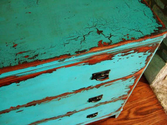 Variety of Antiqued Teal Chests of Drawers by Artisan8 on Etsy, $795.00