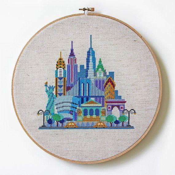 Pretty Little New York - Modern Cross stitch pattern by SatsumaStreet