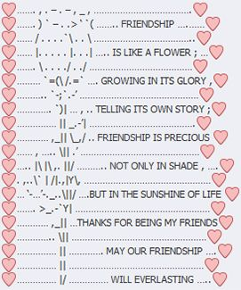 Facebook Emoji Art - Friendship is like a flower