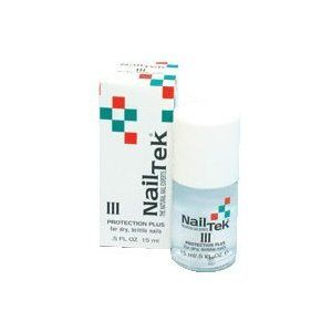 Nail Tek III for Dry Brittle Nails 0.5oz by Nail Tek. $19.70. Protection Plus provides extra conditioning for nails that are hard and brittle.. Applied daily, Protection Plus helps nails regain the healthy balance necessary to resist stress and enhance survivability.. This special formulation replenishes the natural moisture content of the nail.. Nail Tek III: Protection Plus for dry brittle nails.. Nail Tek III: Protection Plus replenishes, moisturizes, protects. All Na...