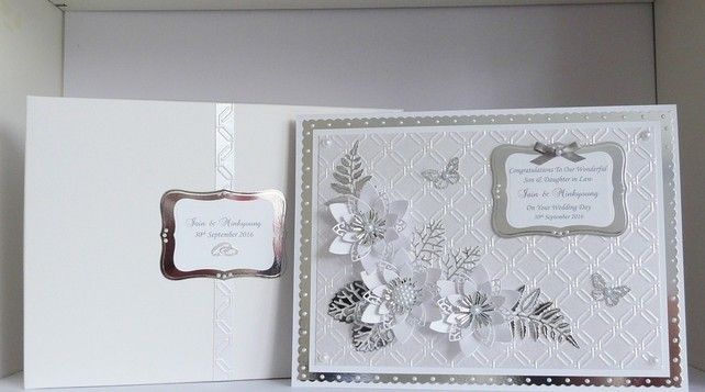 Wedding Day Card for Daughter, Son, Sister etc Large Personalised A4 size Boxed £16.99