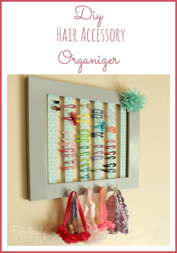 Keep all of the hair clips in one place with this cute and frugal DIY Hair Accessory Organizer!