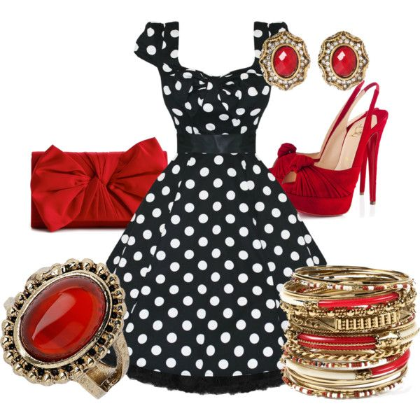 """""""50's Glamour"""" by kelly-thompson-bonicelli on Polyvore"""