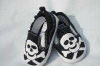 Cool Baby Shoes, Skull & Crossbones Baby Footwear, Punk