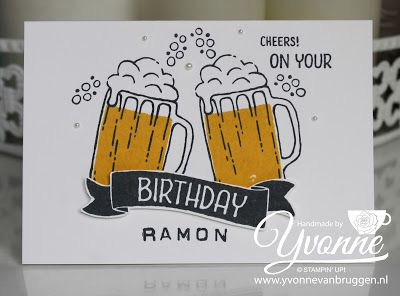 Yvonne is Stampin' & Scrapping: Stampin' Up! Mixed drinks Birthday card #stampinup