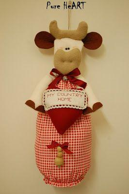 Care ragazze, oggi vi mostro i miei porta sacchetti per dare alla vostra cucina un aspetto più allegro!     MUCCA     CONIGLIETTO     GALLI...