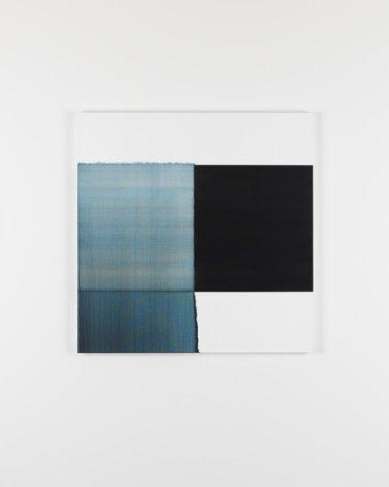 Exposed Painting Prussian Blue (2017) - Callum Innes