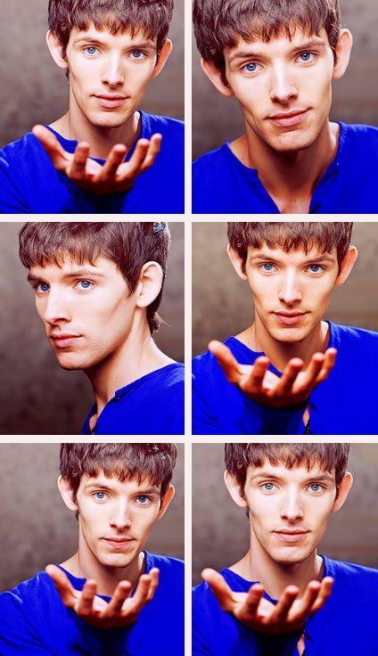 Merlin in blue.