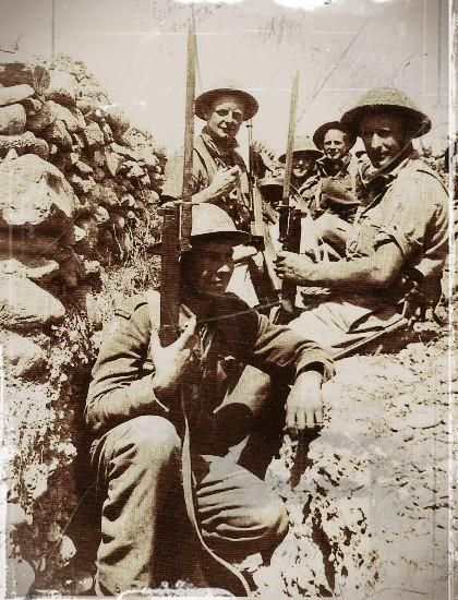 néo zélandais à Malème en Crète en 1941