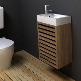 Lave-mains suspendu + Miroir - COMPACT