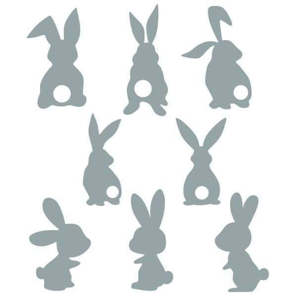 Diy Hoppy Easter Sign Tutorial A Little Moore Bunny Silhouette Rabbit Silhouette Easter Signs