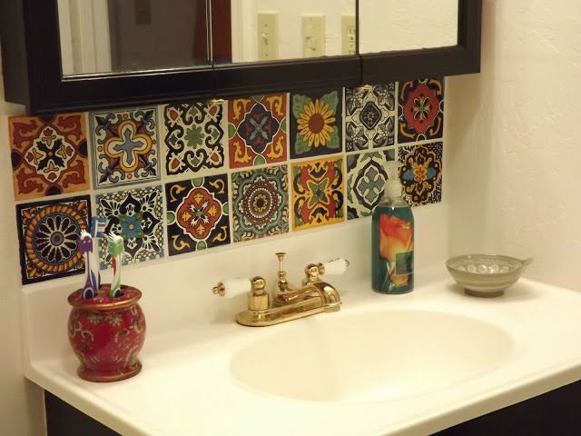mexican tile in bathroom