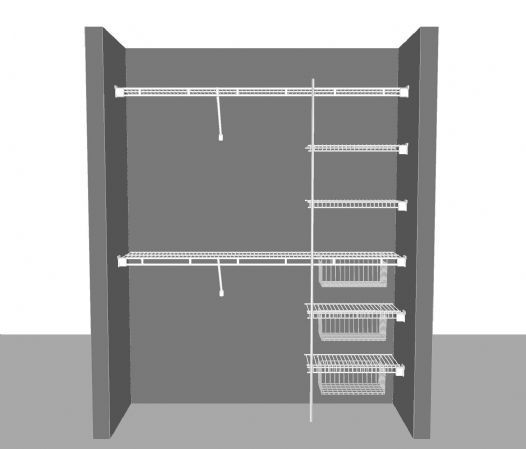 closet layout 6 183m 6u0027 wide shelf u0026 rod
