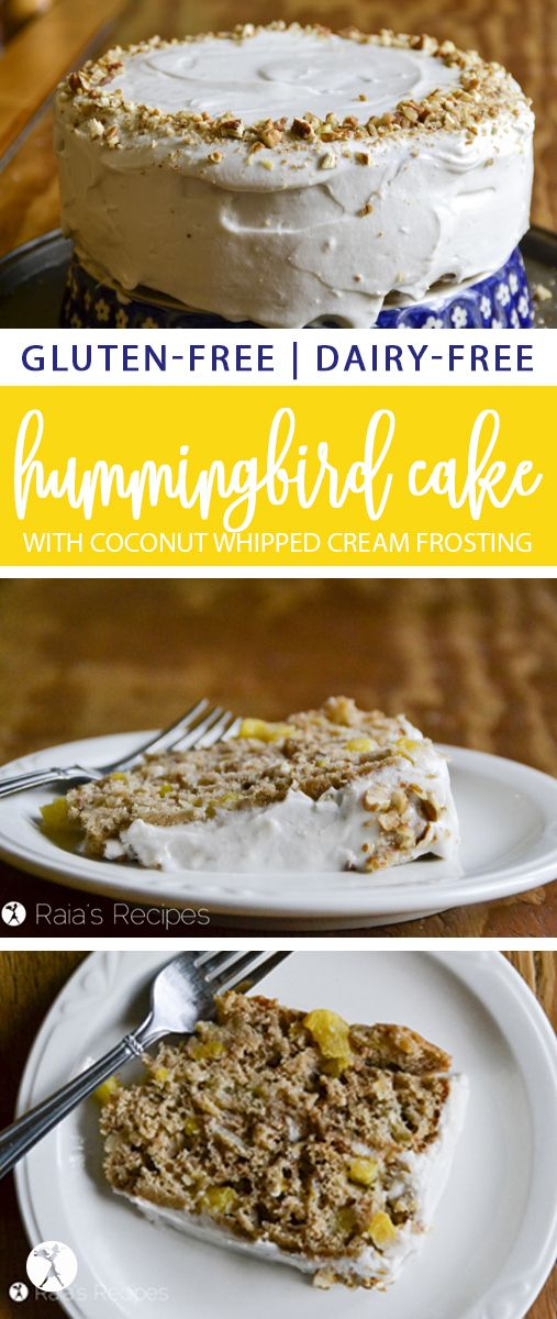 Full of fresh fruits and frosted with coconut whipping cream, this gluten and da…
