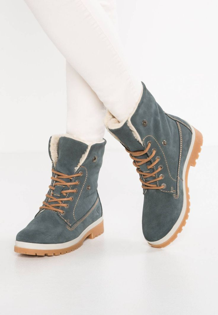 """Tamaris. Ankle boots - sky. Care instructions:treat with a suitable protector before wear. heel height:1.5 """" (Size 4). Heel type:block heel. Insole:textile. Sole:synthetics. Padding type:Warm padding. Shoe tip:round. upper de..."""