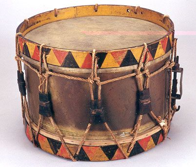 NMM 10,042.  Side drum, France, ca. 1850-1900