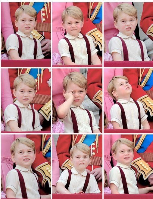 June 17, 2017: Collage of photos of Prince George - Trooping of the Colour