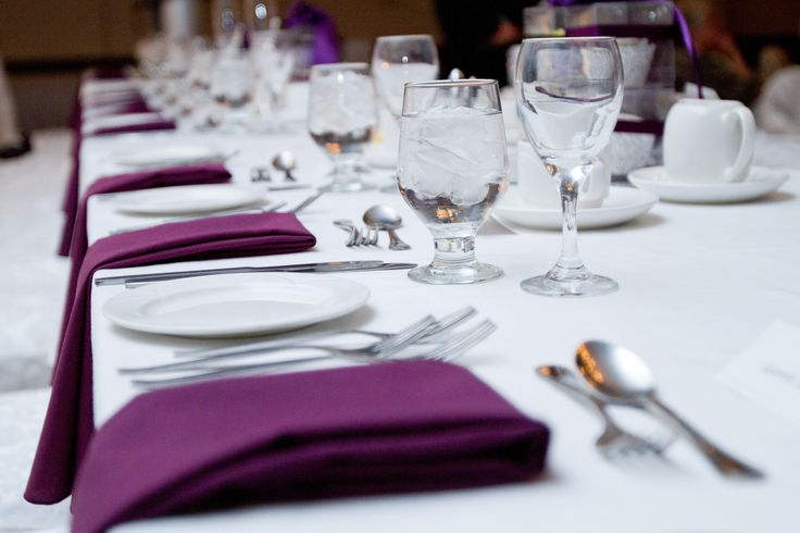 Plum Napkins - Holiday Inn Burlington Hotel & Conference Centre