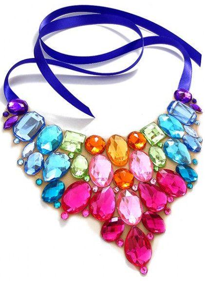 Bright Colored Bib Necklace