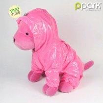 Dog Pocket Raincoat - Pink - Medium