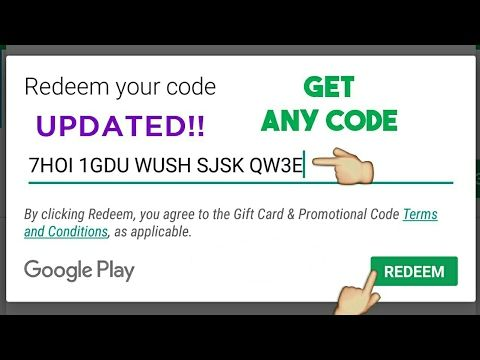 Google play gift card: free google play gift card codes list 2017