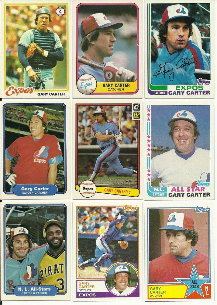 Huge 90 + different GARY CARTER cards lot 1978 - 2004 Expos Mets Giants Dodgers #NewYorkMets
