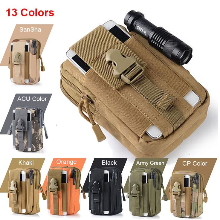 Tactical Molle Pouch Belt Waist Pack Bag Pocket Military Fanny Pack Phone Cases for Samsung Galaxy S5 S6 Iphone 6s 7 Plus LG G4 ** Offer can be found by clicking the VISIT button