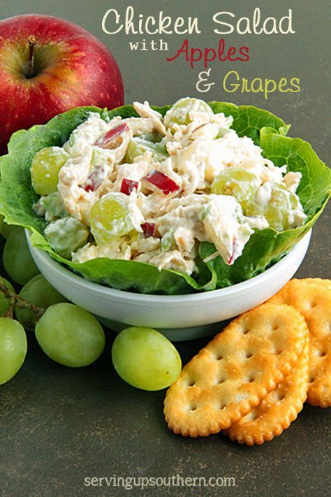 Chicken Salad With Apples & Grapes | Serving Up Southern