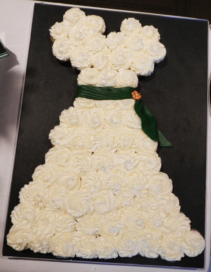 Wedding dress cupcake cake party ideas pinterest for Wedding dress cupcake cake