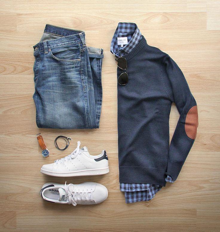 "10.1k Likes, 168 Comments - Phil Cohen (@thepacman82) on Instagram: ""Monday Mood ☀️ #springisnow  Shoes: @adidasoriginals Stan Smith Shirt: @ledburyshirts Sweater:…"""