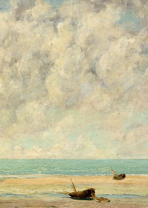 Gustave Courbet, The Calm Sea, 1869 (detail)