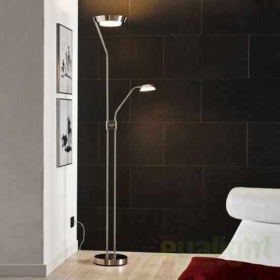 Lampadar, lampa de podea dubla, finisaj cromat, Sarrione 93714 EL - Corpuri de iluminat, lustre, aplice