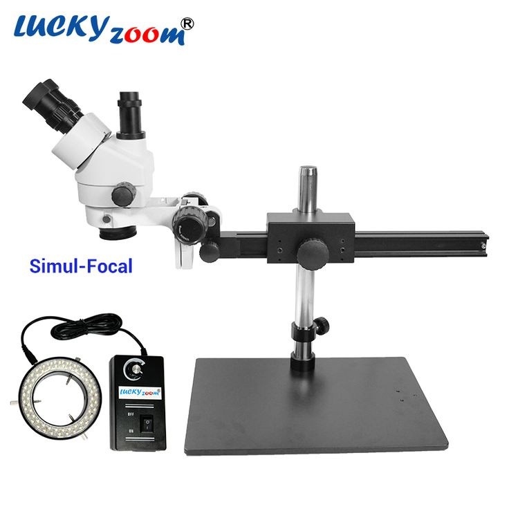 Find More Microscopes Information about Luckyzoom 7X 45X Simul Focal Trinocular Stereo Zoom Microscope Flexible Tripod Stand 60 Ring Light Soldering Phone Microscopio,High Quality Microscopes from LUCKY ZOOM Stereo Microscope Store on Aliexpress.com