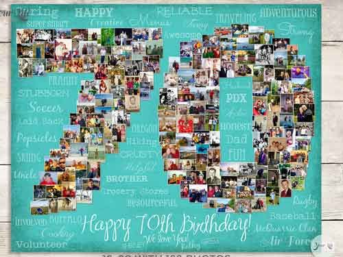 photo collage ideas for birthday - 25 best ideas about Birthday photo collages on Pinterest