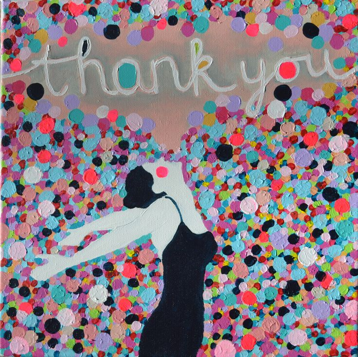 thank you / acrylic on canvas / 40 x 40cm
